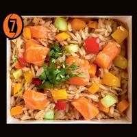 Рис с лососем в соусе дасуан